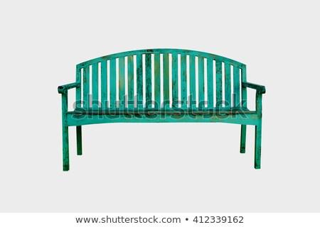 Zdjęcia stock: Starych · zielone · ławce · parku · charakter · meble