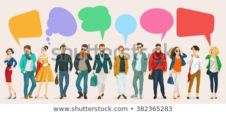 Cartoon · большой · коллекция · набор · случайный · люди - Сток-фото © voysla