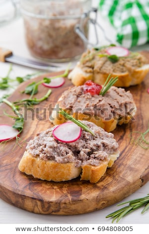 Stock photo: Bread and meat spread