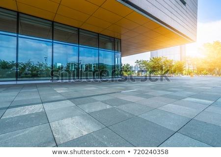 Szkła fasada wieżowiec budynku cień wieża Zdjęcia stock © pedrosala