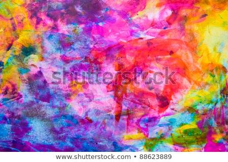 Nyár festék vektor kék ég legelő tavasz Stock fotó © Sonya_illustrations