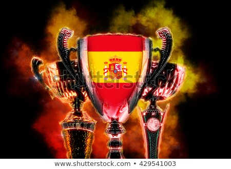 трофей Кубок флаг Испания Цифровая иллюстрация Сток-фото © Kirill_M