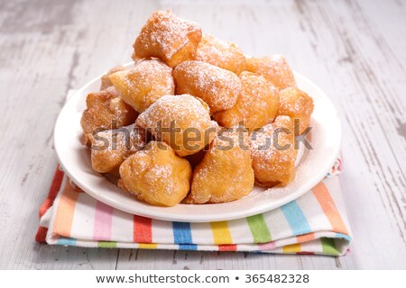 huisdier · frans · donut · hout · achtergrond · cake - stockfoto © M-studio
