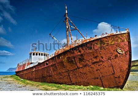 Stranded Ship In Iceland Stock photo © iko