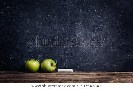 Hausaufgaben Text Schule Bord Kreide Hintergrund Stock foto © fuzzbones0