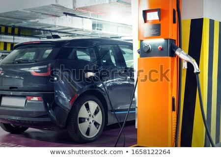 batterie · voiture · électrique · électriques · véhicule · voiture · main - photo stock © lightpoet