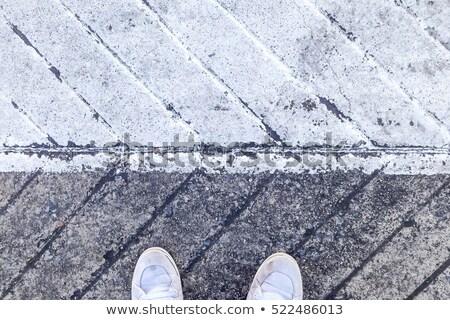 paar · trottoir · toevallig · jonge · generatie - stockfoto © stevanovicigor