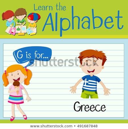 G betű Görögország illusztráció háttér művészet oktatás Stock fotó © bluering