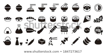 карри картофель фри продовольствие таблице обеда мяса Сток-фото © racoolstudio