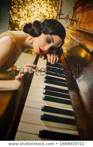美 · 肖像 · 女性 · 創造 · 化粧 · 触れる - ストックフォト © deandrobot