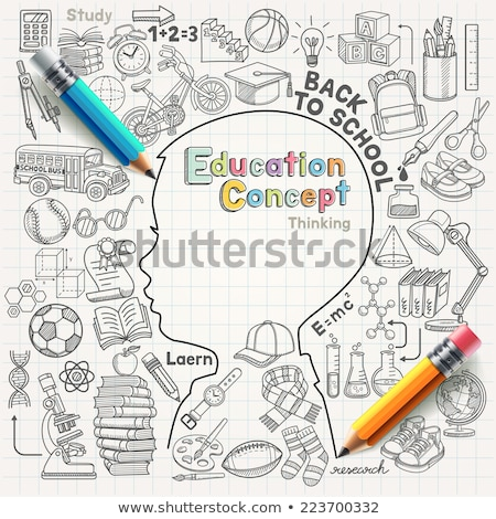 A sketch of an educator writing Stock photo © bluering