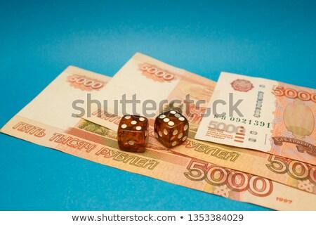 bursztyn · kości · dwa · kostki · sprawozdanie · finansowe · działalności - zdjęcia stock © naumoid