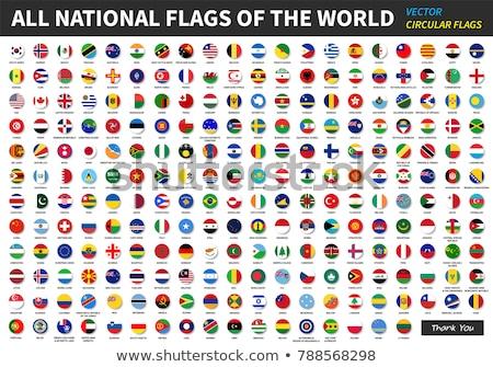 Foto stock: Bandeira · mundo · vetor · ícones · teia · europa