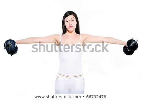young woman weightlifting in a fitness mood Stock photo © Giulio_Fornasar