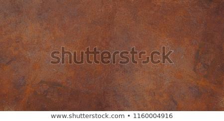 Ferrugem metal textura do metal parede pedra prato Foto stock © karandaev