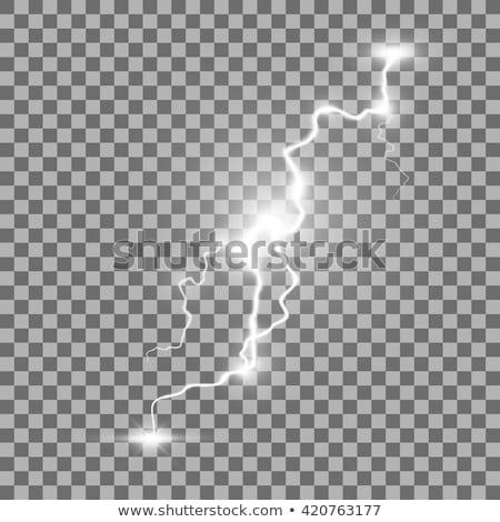 Yıldırım yalıtılmış eps 10 şeffaflık vektör Stok fotoğraf © beholdereye