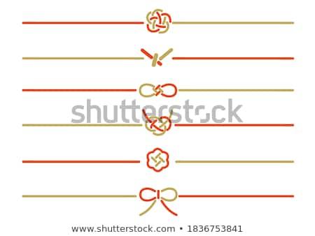 piros · dekoratív · szatén · esküvő · ajándék · ajándék - stock fotó © cundm