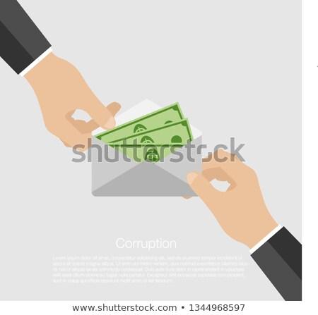Zakenman aanbieden cash geld envelop corruptie Stockfoto © stevanovicigor
