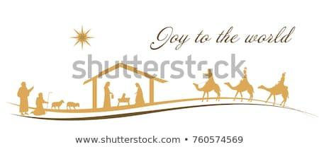 Nativity scene in the Christmas ball Stock photo © adrenalina