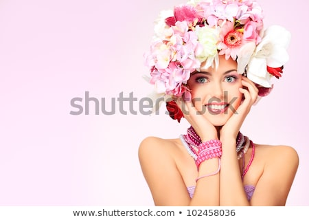 Spring beauty or woman cosmetics consept. Fashion portrait shot Stock photo © artfotodima
