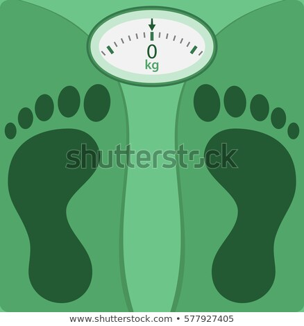 Weight scale with foot silhouette Stock photo © Tefi