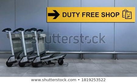 Shopping cart station sign Stock photo © mybaitshop