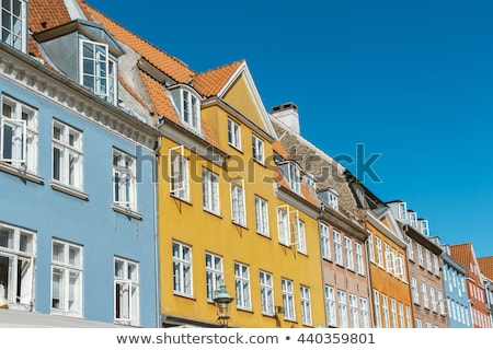Vieux blanche fenêtre jaune bâtiment façade Photo stock © stevanovicigor