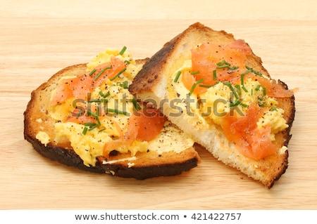 Huevos revueltos picado cebollino brindis alimentos Foto stock © Digifoodstock