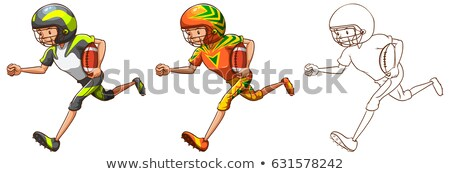 Drafting character for American football player running Stock photo © bluering