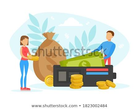 Dollár pénztárca pénz papír pénz dollár Stock fotó © Silanti
