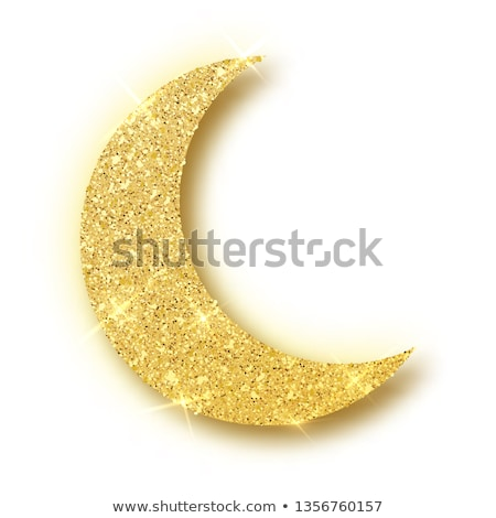 crescent moon and star on golden background for eid festival Stock photo © SArts
