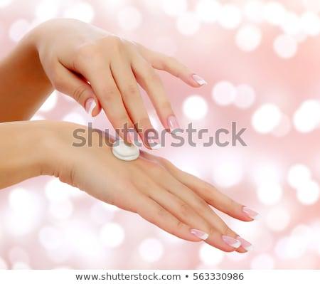 belo · esbelto · corpo · perfeito · menina · depilação · com · cera - foto stock © nobilior