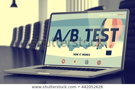 Ab Test Concept on Laptop Screen. Stock photo © tashatuvango