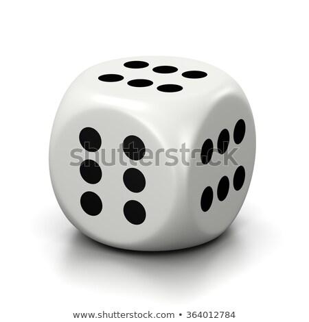 Alle zes gezichten witte dobbelstenen een Stockfoto © make