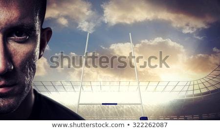 Rugby jogador olhando câmera retrato branco Foto stock © wavebreak_media