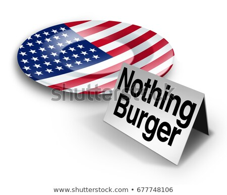 Nothing Burger Concept Stock photo © Lightsource