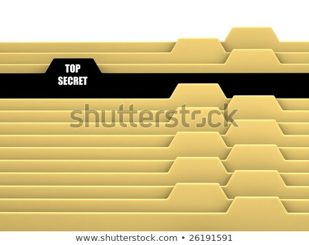 archive bookmarks of card index with restricted 3d stock photo © tashatuvango