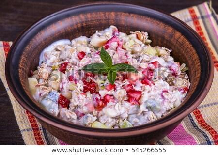 燕麦 · ミルク · リンゴ · ボウル - ストックフォト © Digifoodstock