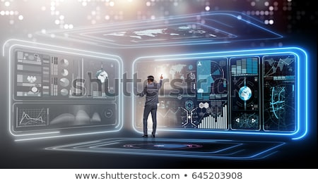 Laptop Screen with Big Data Concept. Stock photo © tashatuvango