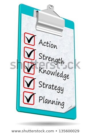 Knowledge Management - Text on Clipboard. 3D. Stock photo © tashatuvango