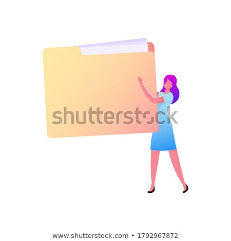 Cliente carpetas catálogo documento primer plano Foto stock © tashatuvango