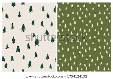 Végtelenített fák ősz vízfesték papír fa Stock fotó © jara3000