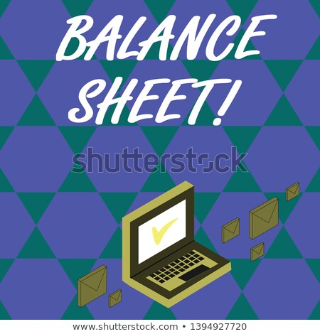 Assets and Liabilities Concept on Laptop Screen. Stock photo © tashatuvango