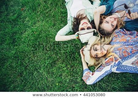 夢のような · カップル · 公園 · 肖像 · いい · 時間 - ストックフォト © is2