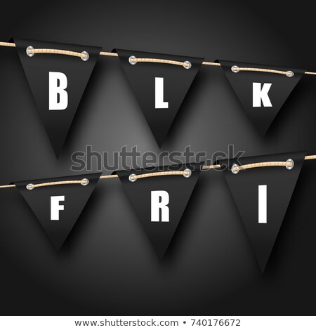 Black friday opknoping reclame illustratie vector partij Stockfoto © smeagorl