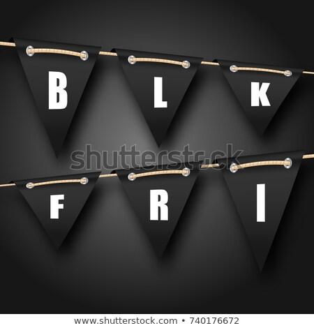 black friday hanging bunting pennants advertising background stock photo © smeagorl