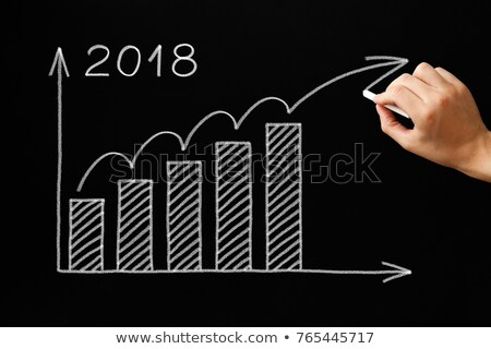 Growth Graph Year 2018 Blackboard Concept Stock photo © ivelin