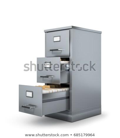 ファイル カード 3D アーカイブ ブックマーク 現代 ストックフォト © tashatuvango