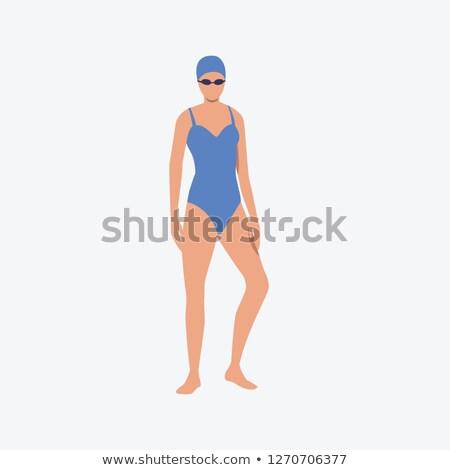 女性 スイマー 実例 スイミング 孤立した 女性 ストックフォト © get4net