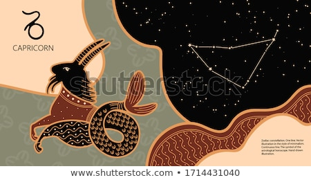 horoszkóp · állatöv · felirat · tenger · kecske · asztrológia - stock fotó © krisdog